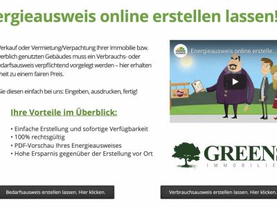 Energieausweis online erstellen lassen - bei GREENS!