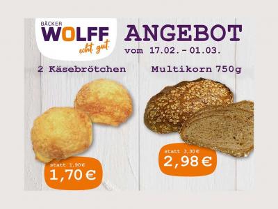 Bäcker Wolff - Angebot