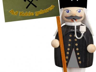 KohleKumpel Bergmann mit Fahne