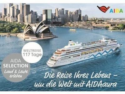 Reisetraum-Weltreise AIDAaura