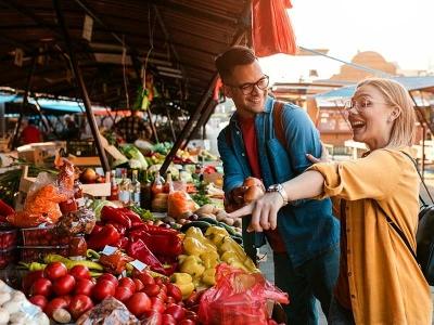 Wochenmarkt in der Innenstadt