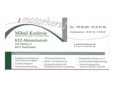 Mihail Kozlovic Motorherz Kfz-Meisterbetrieb