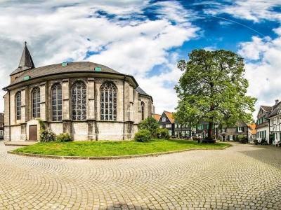 Der historische Kirchplatz in Wülfrath