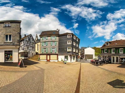 Der Kirchplatz in Velbert Neviges