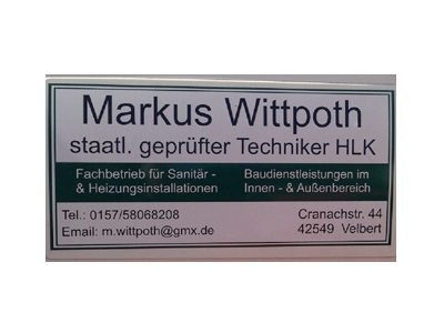 Markus Wittpoth staatl. geprüfter Techniker HLK